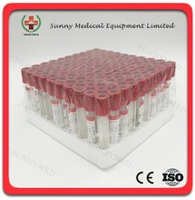 SY-L013 Vacuum Blood Collection Tube Disposable Lab Red Plain Blood Tube