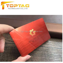 Colored Red Metal Card for Membership Card/ Business card/Invitation Card
