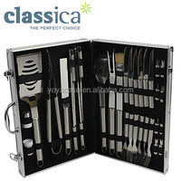 Classica 33 Piece Gourmet Stainless Steel BBQ Tool Set in Aluminium Carry Case