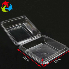 Custom clear square food plastic clamshell blister packaging