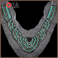 Handmade beaded ladies choker collar for clothes making ladies blouse collar design