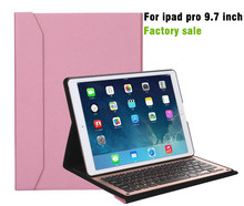 9.7'' Leather Bluetooth Keyboard Protective Case With Stand For Ipad Pro 9.7 inch High Quality