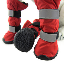 JML Brand Anti Slip Waterproof Bottom High quality red Color Dog Boots 4pcs/set