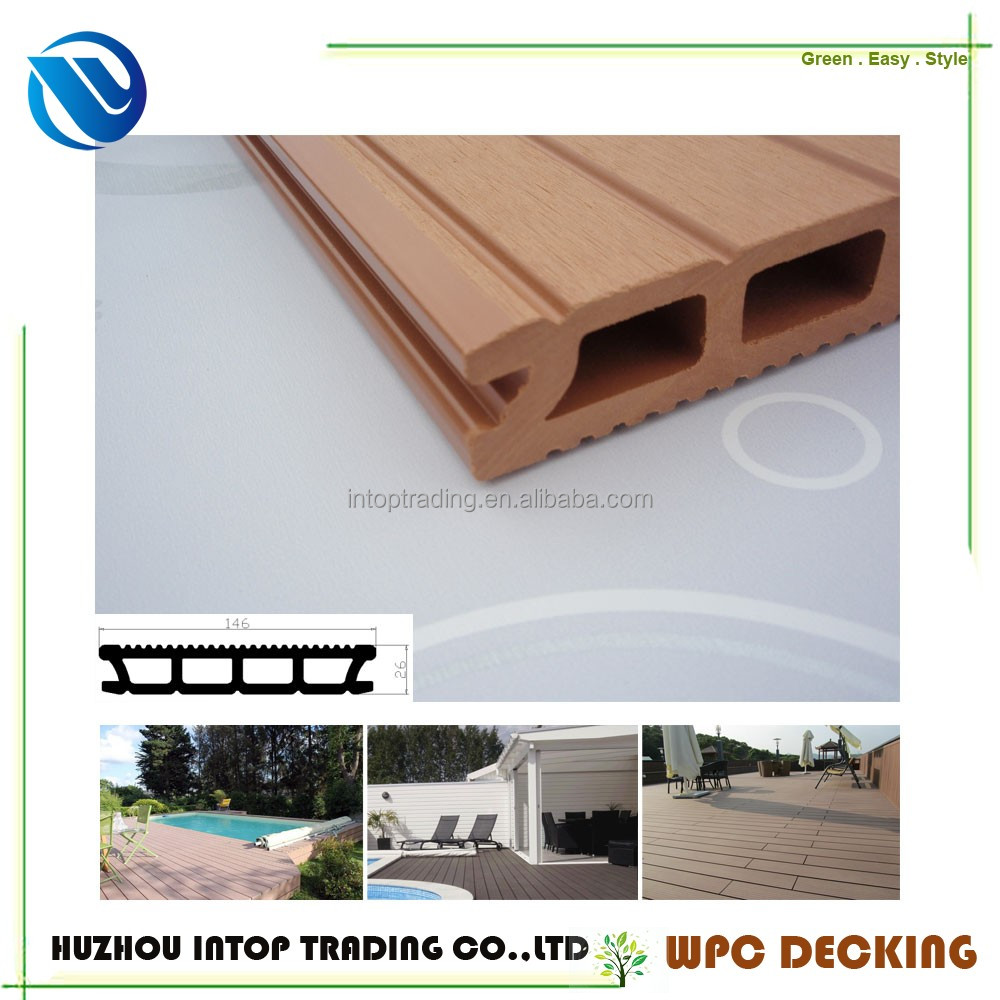 YT-DHJ26-146 Most customer`s choice High temperature extrusion process HDPE plates plastic wood floor board