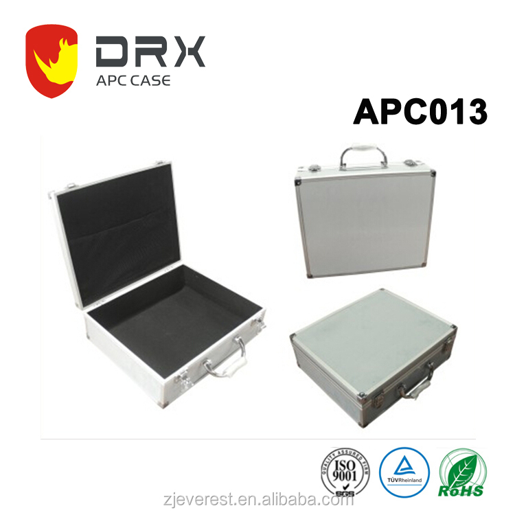 Silver Aluminum Hard Tool Case For camera