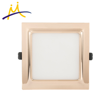 Electroplate aluminum 5w square frame led ceiling flat panel light