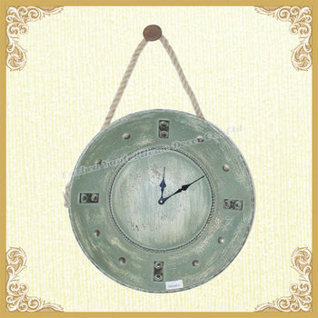 Home interior hanging wall clock shabby chic