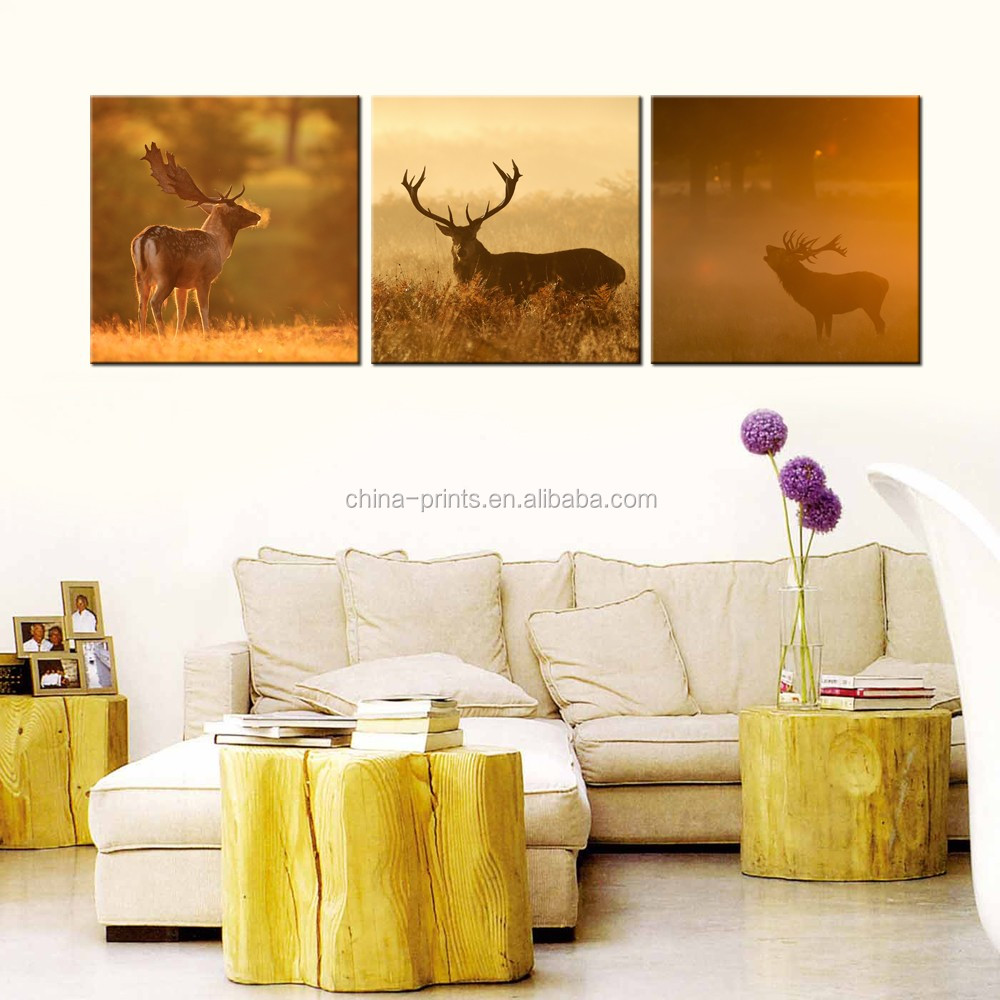 Modern Painting For Living Room Animal Deer In The Forest Home Decor Mural Wall Art Contemporary Abstract Landscape Poster Print