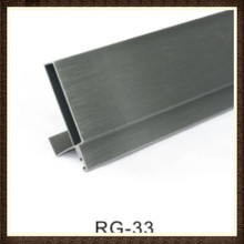 6063 Extruded Aluminium Toilet Cubicle Partition Door Stopper Profile