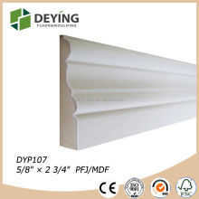 White primed wood architrave trim molding