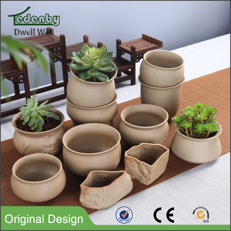 Wholesale Macaron Ceramic succulent Flower Pot