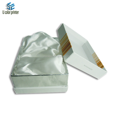 matte lamination cosmetics box with insert tray satin cloth
