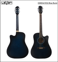 Spruce Top Rosewood fingerboard Acoustic Electric Guitar with Blue burst colour