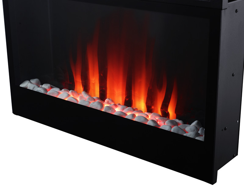 colorful micro marble fireplace
