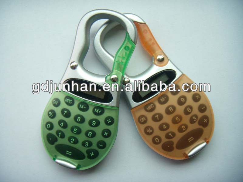 mini gifts promotional electronic Calculator with carabiner