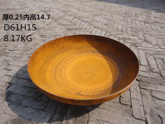 D60cm Rusty steel fire pits outdoor use firepit