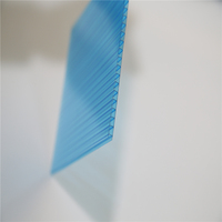 polycarbonate Anti-fog sheet pc material hollow panels for sun house roofing