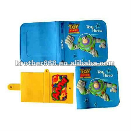Mini silicone notebook/cartoon design PVC cover notebook office stationery