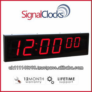 SignalClocks 6 Digit - Network Clock, POE Clock, Digital Wall Clock