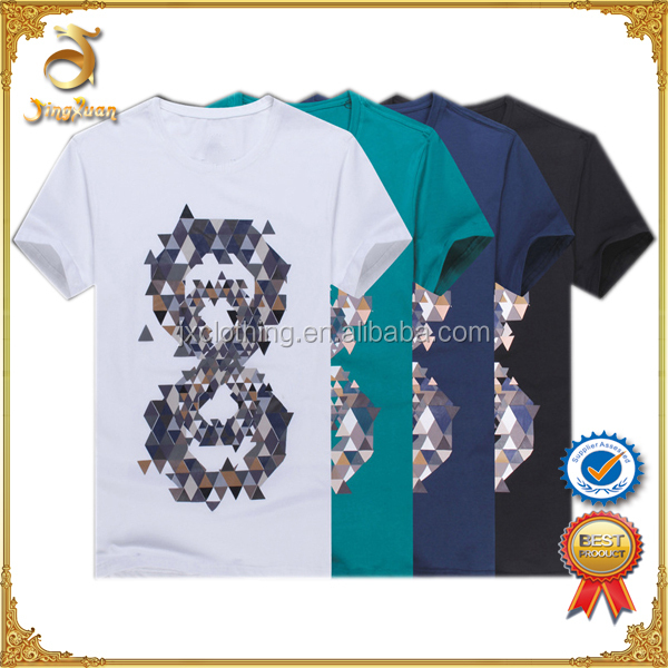 New launched flashing led new type shirt digital printing t shirts for boy