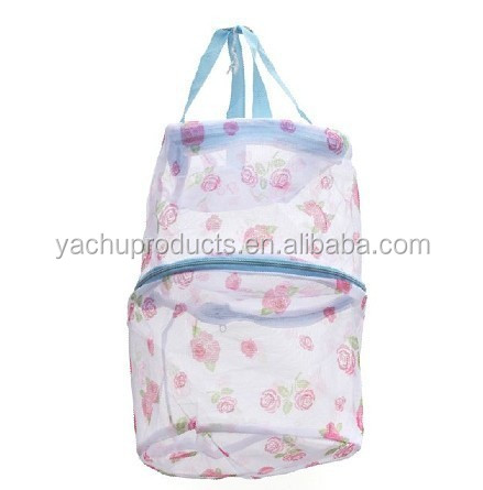 mesh material cylindrical mesh bra laundry soft bag