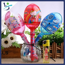 sand hammer with whistle handle Supper Lollipop package Fruit giant lollipops packed candies sweets candy toy for kids