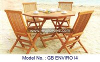 European Style Teak Wood Furniture For Garden Set Modern Outdoor Wooden Tea Table And Chair