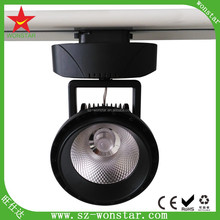 NEW Design Adjustable Rail lamp 2 3 4 wires Focusing cob led global track lighting 50w 3 Years