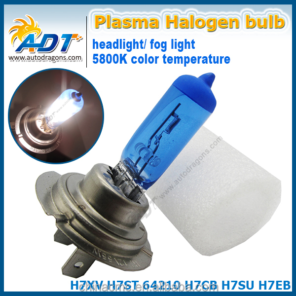 Auto foglights 55W H7 xenon HID look 5800K halogen foglight bulbs