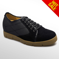 Black cow leather man casual shoes/strong flexity rubber sole casual shoes for men 2013