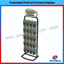 Fashion counter metal mobile phone accessory display rack