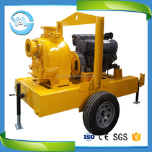10hp diesel engine centrifugal water pump with trailer
