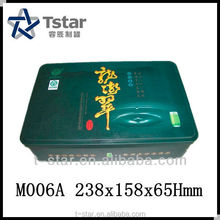 Customized Rectangular Tea Tin Case
