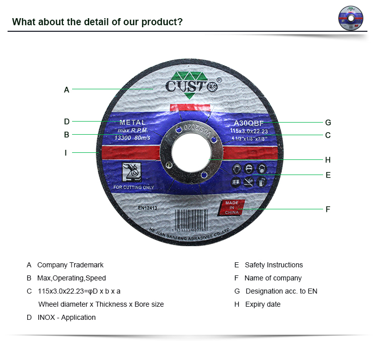 Cutting Off Wheel Size 7 Cutting Wheel With Mpa Certification Buy