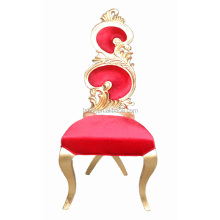 solid wood fabric king gold leaf chair throne chairs V010