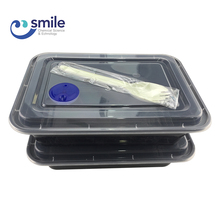 Upscale easy to open takeaway chinese food container plastic disposable lunch box with spoon
