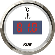 KUS 52mm Universal Auto Boat Digital Water Temp Temperature Gauge <strong>Meter</strong> 25-120 Degree With Backlight 12V/24V