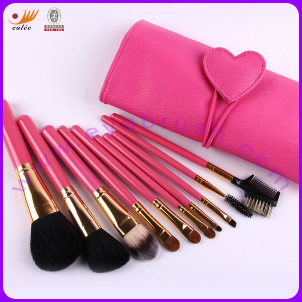 Latest fashion carmine-rose cosmetic tools for girls