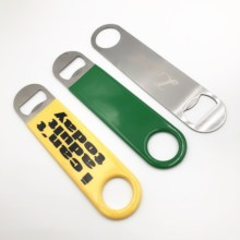Amazom Hot sell Heavy Duty Stainless Steel <strong>Flat</strong> Bottle Opener, Solid Easy To Use Best Bottle Openers