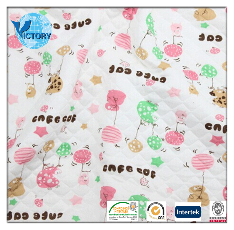 80% Cotton 20% Polyester Printed Air Layer Fabric 2017