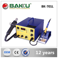 2016 2 in 1 BAKU New Design Lead-free hot air desoldering SMD Rework Station+soldering iron BK701L