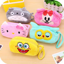 Hot selling high quality super cheap lovely cartoon pen bag for kids children
