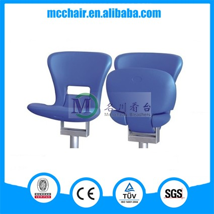 2016 Taurus Floor Mounted China Stadium Seat Plastic Chair/Audience Chair Basketball Seating/Blow Molded Stadium Seat