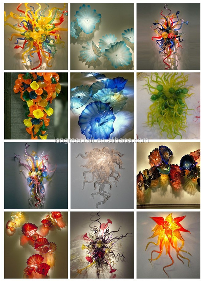 Modern Multicolor Glass Material Indoor Sculpture Star Hotel Decoration Lighting Sculptures
