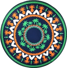 RC-002,Best Selling 2017 Custom Multiple Function 150x150cm Lightweight Chiffon Round Mandala Printed Beach Towels Wholesale