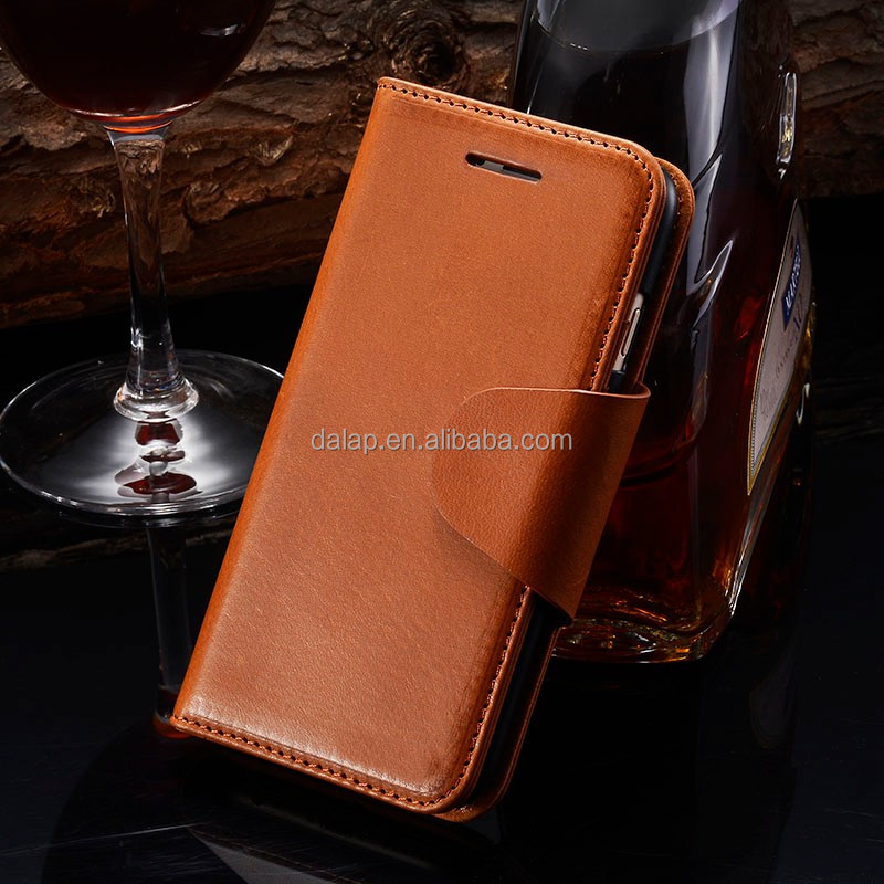 leather phone case for iphone 6 with wallet design