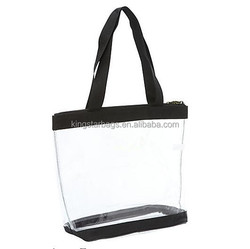Eco green Vinyl transparent tote bag for lady young women Cheap OEM