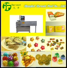 professional chocolate candy bar wrapping machine/flow packaging machine