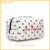 Wholesale fashion trendy hanging leather cotton travel canvas cosmetic bag
