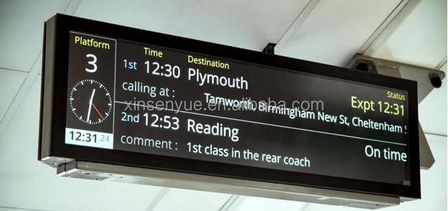 Brilhante flexível levou tela de publicidade display lcd sistema de informação de passageiros